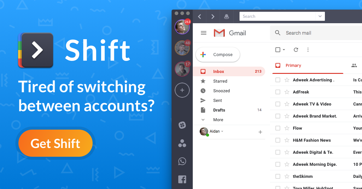 Shift The Best Desktop Email Client For Gmail And Outlook Com