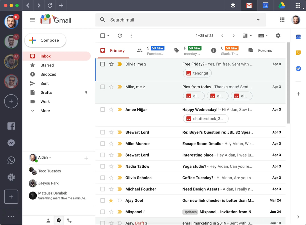 Shift Gmail